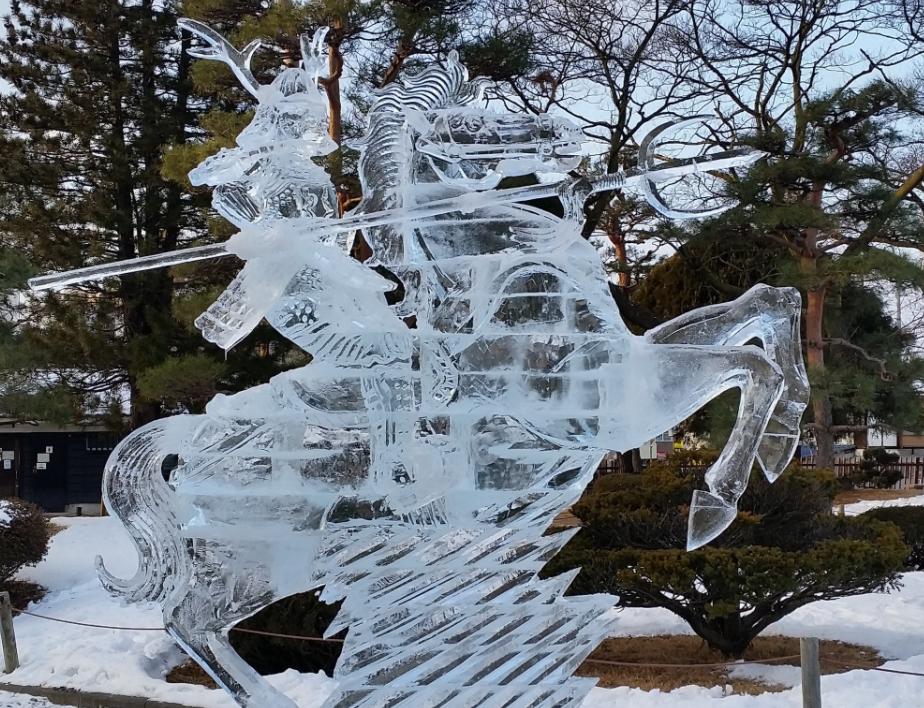 松本城氷彫刻フェスティバル