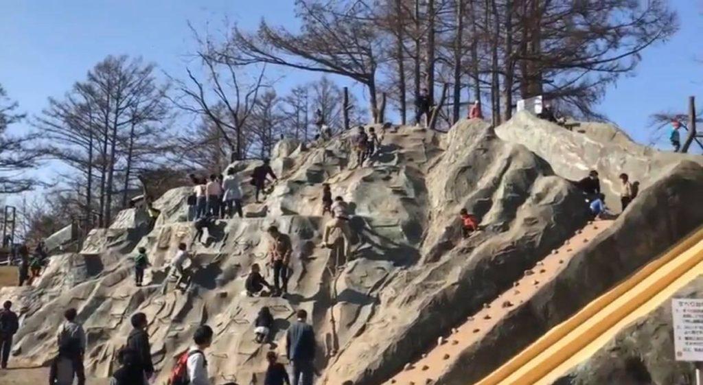 岩山と滑り台