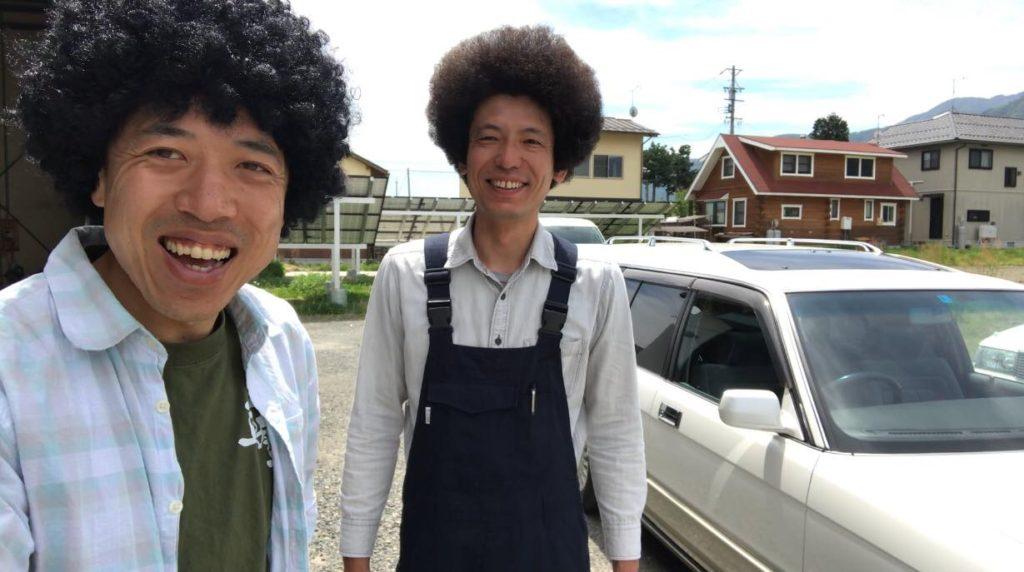 安曇野、桜花自動車のアフロ兄弟