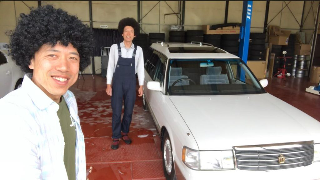 桜花自動車でガラスコーティングと磨き クラウン