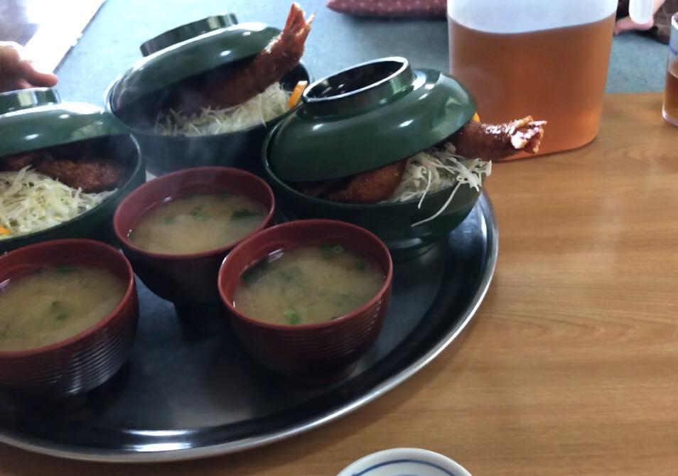 松本市 ソースかつ丼 我山で運ばれてきた丼