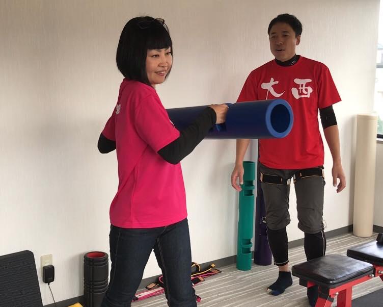 松本市 加圧トレーニングスタジオ ボアソルチで女性の加圧トレーニング