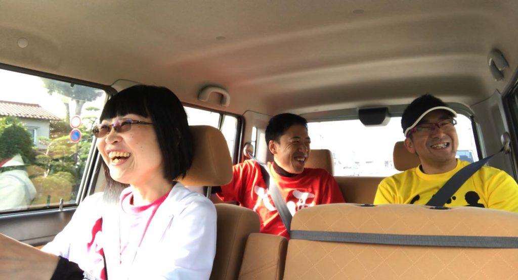 長和町へ向かう中年ランニングチーム