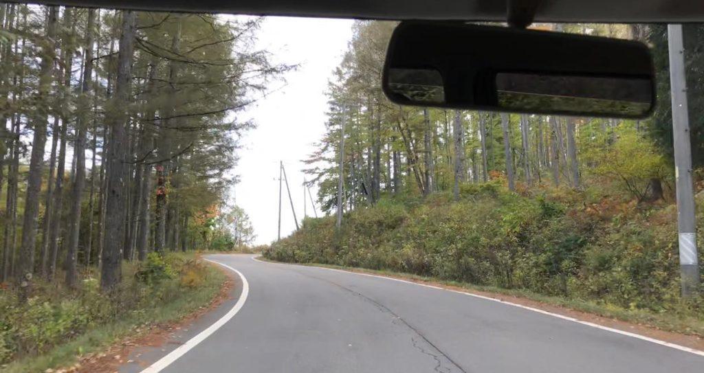 長和町の峠を走る