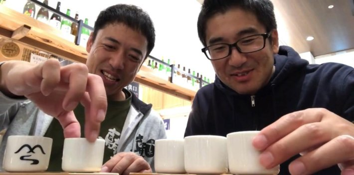 長野駅で利き酒、飲み比べ