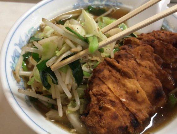 藍蔵のスタミナラーメンの野菜炒め