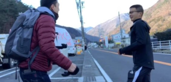 ヒッチハイクで松本市奈川へ