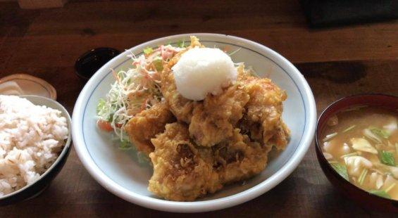 鶏天定食A