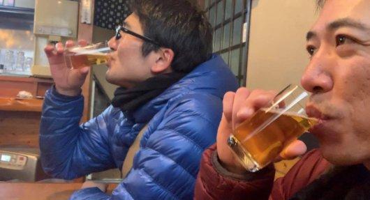 郷里で瓶ビール