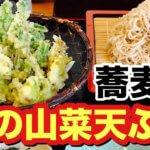 【山菜天ぷら食べに行く】春の味覚を天ざるでたっぷり、ひとやすみ。