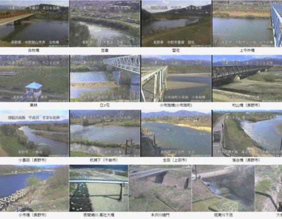 川 水位 カメラ 千曲