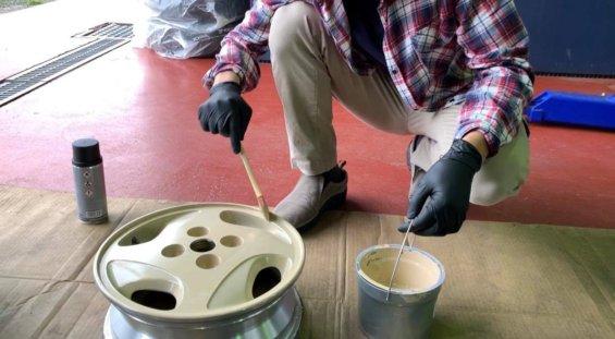 DIYで車を塗装