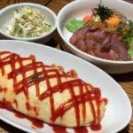 カフェレスト『ガレージ』(松本市浅間温泉)でカフェ飯がっつり!大盛りオムライスにガレージ丼。