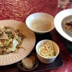 『九龍』中国料理店でがっつりランチ!名物担々麺と肉味噌野菜定食(松本市南原)