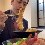 【大海老天丼と海鮮丼がっつり】魚介類が旨いと評判の「和風ダイニング肴」(安曇野市堀金)