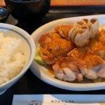 【洋食ランチがっつり】チキンガーリックとオムライス。人気の老舗カフェ&レスト「潮騒」