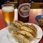 【餃子八番で夕飲み】ビールセットにニラモヤシ炒め、ラーメンがうますぎ
