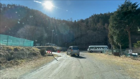 大音寺山の登山口近くの駐車場